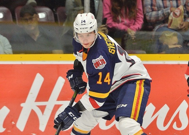 Andrei Svechnikovof the Barrie Colts. Photo by Terry Wilson / OHL Images.